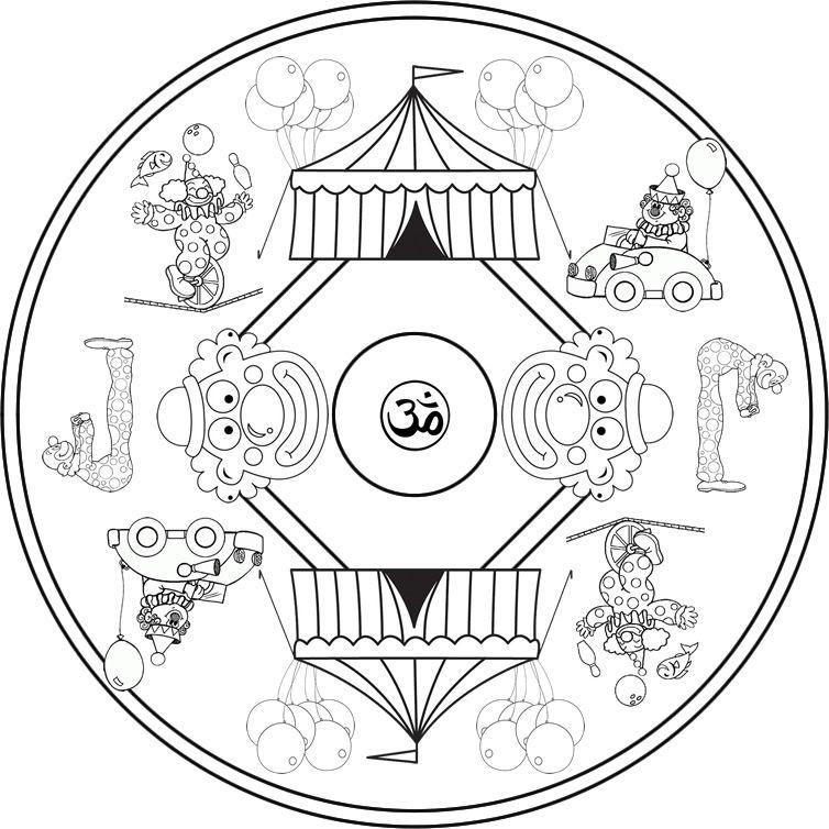 Resultado de imagen de mandalas infantiles de navidad para - Mandala dinosaure ...