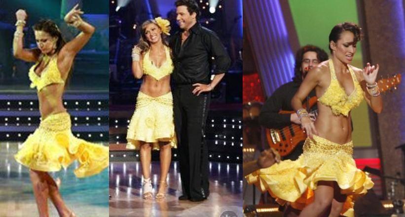 Karina's samba season 8 vs Edyta's in the pro dance to Robin Thicke in season 8 vs Tiempo Libre's  Pro dance season 9