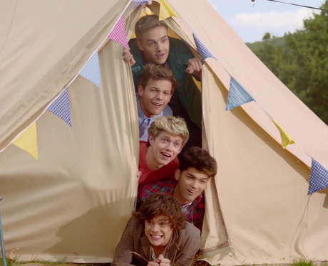 Harry wakes up in his tent as the video kicks off. | One Direction Picture Galleries | Capital FM