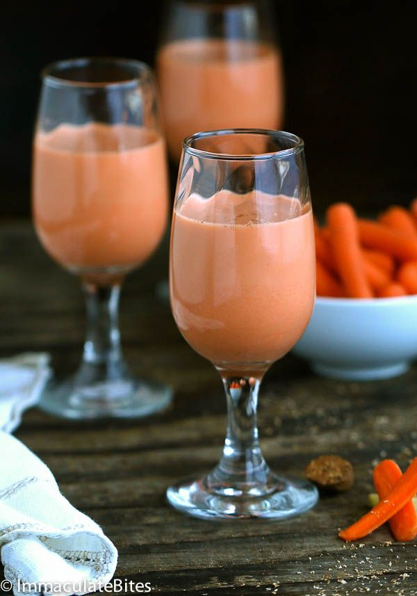 Jamaican Carrot Juice- Not your typical carrot Juice this one is creamy and spiced - With Vegan Option