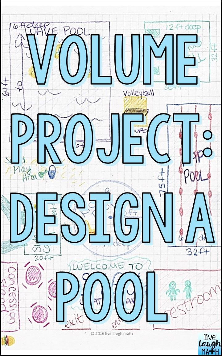 Volume Project | Math enrichment, Math projects and Common cores