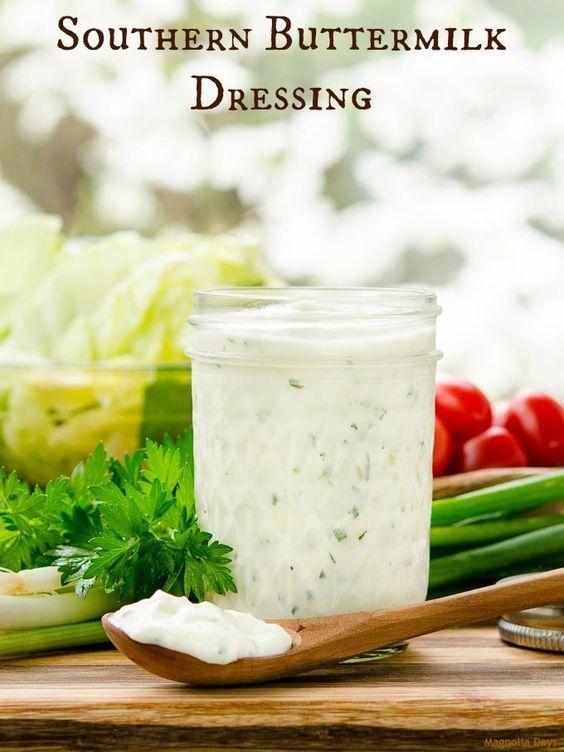 Southern Buttermilk Dressing Recipe Buttermilk Dressing Buttermilk Salad Dressing Homemade Salads