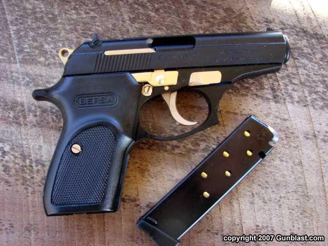 Bersa Thunder 380 Matte Black With Gold Trim Bersa Handguns