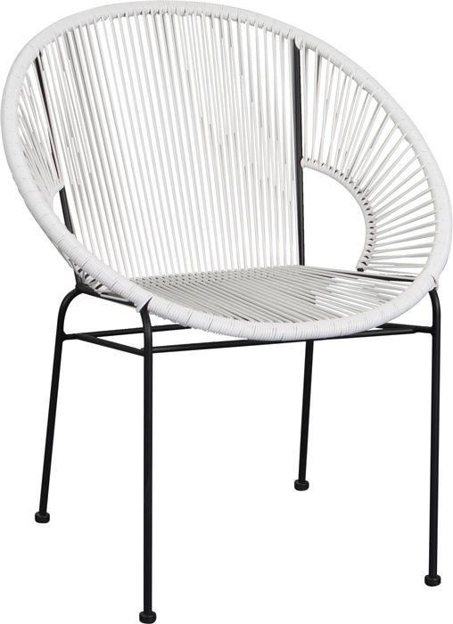 Découvrez cette chaise design ronde en métal et en polyéthylène elle ne passera pas inaperçue
