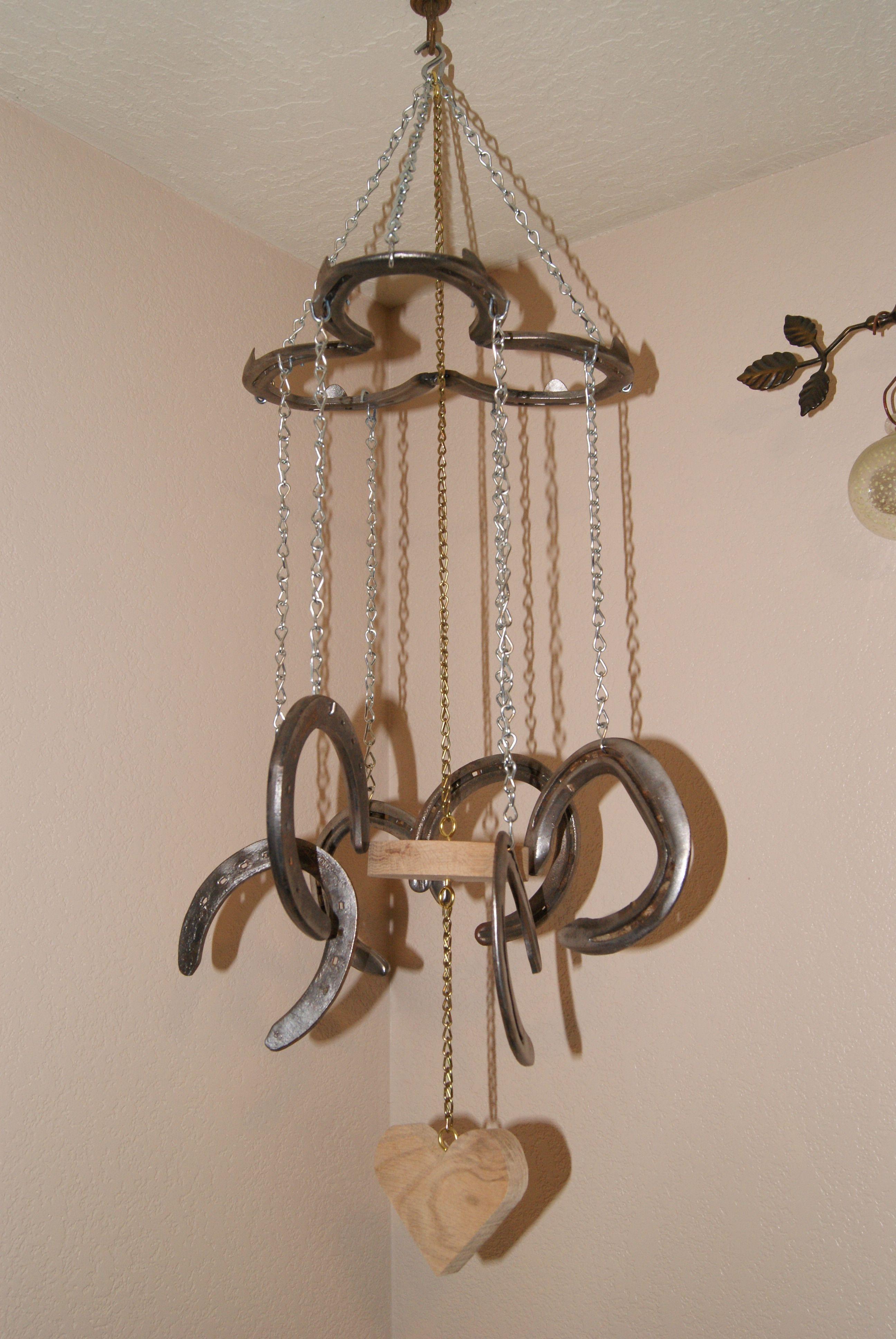 Horseshoe Windchime Rodeo Crafts Horseshoe Crafts Wind Chimes