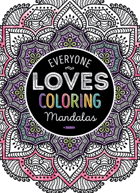 Adult Coloring Book Everyone Loves Coloring Mandalas Case Pack 24