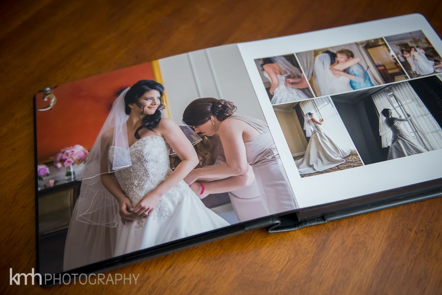 invest in a professional wedding album and have your first family heirloom kmh photography