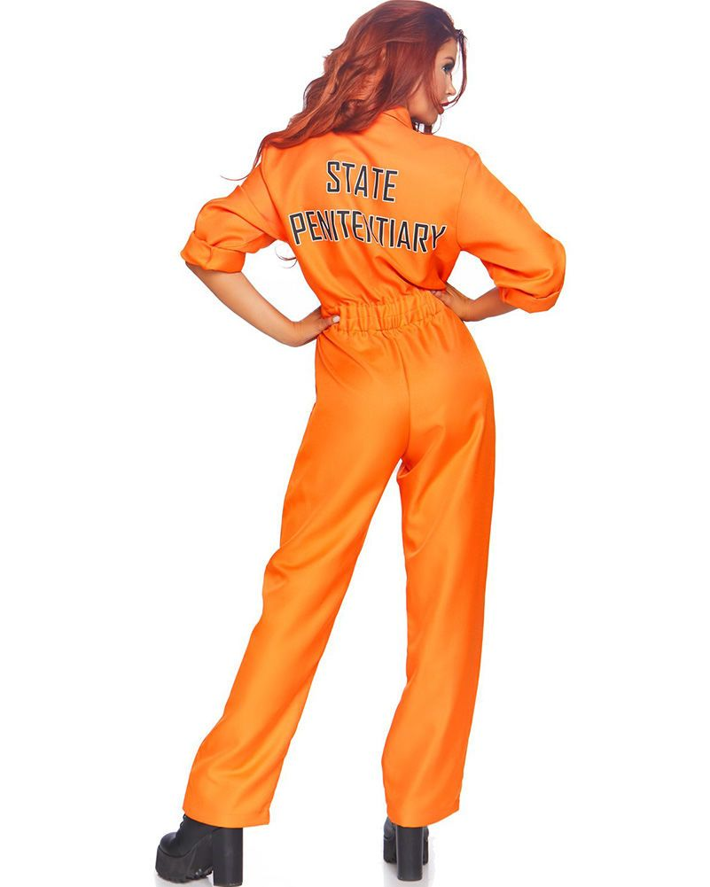 Prisoner Jumpsuit Womens Costume In 2020 Prison Jumpsuit