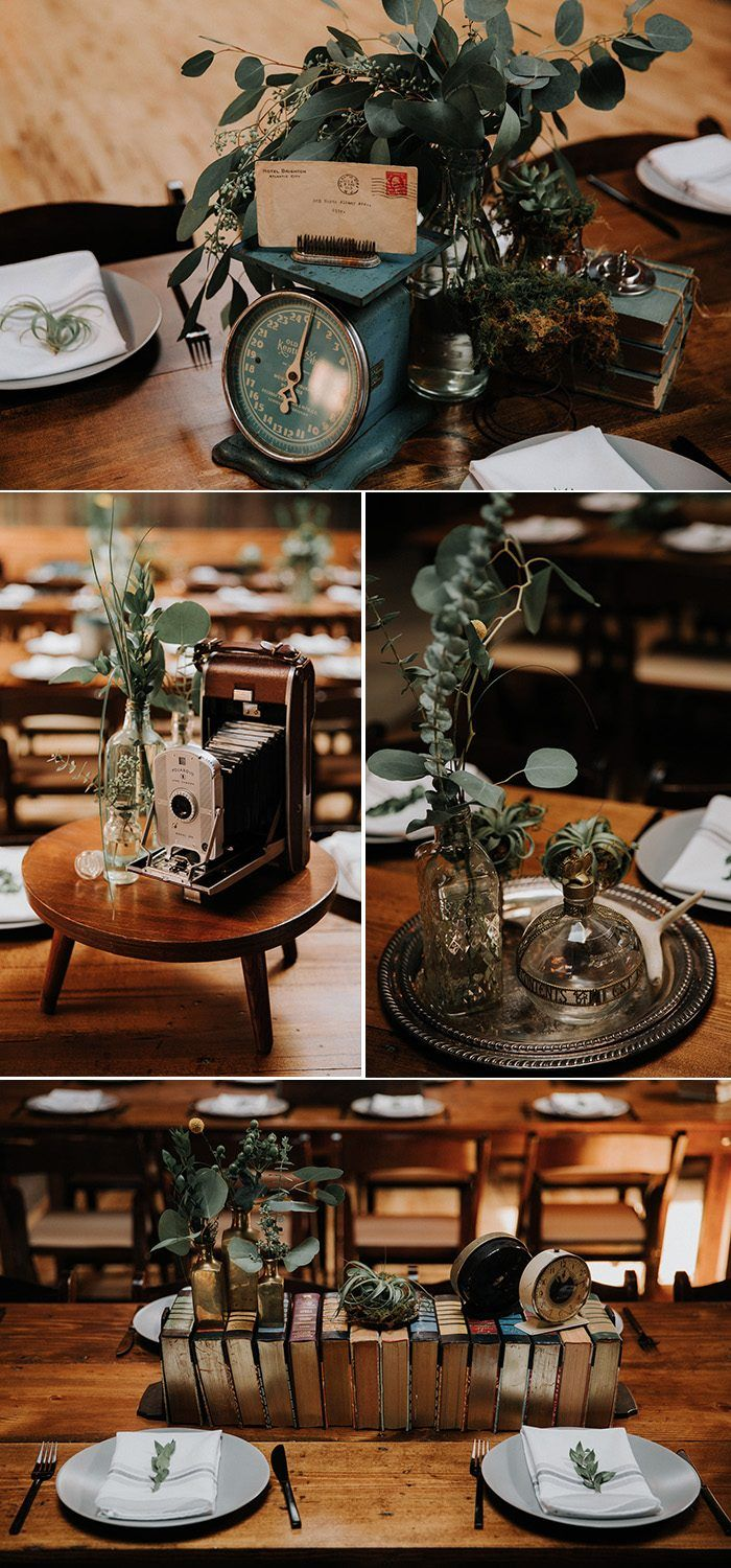 Eclectic DIY Knoxville Wedding at The Standard with a Vintage Twist #weddingreception