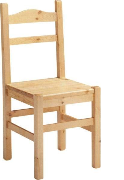 Sedia rustica in legno massiccio. www.arredamentirustici.it