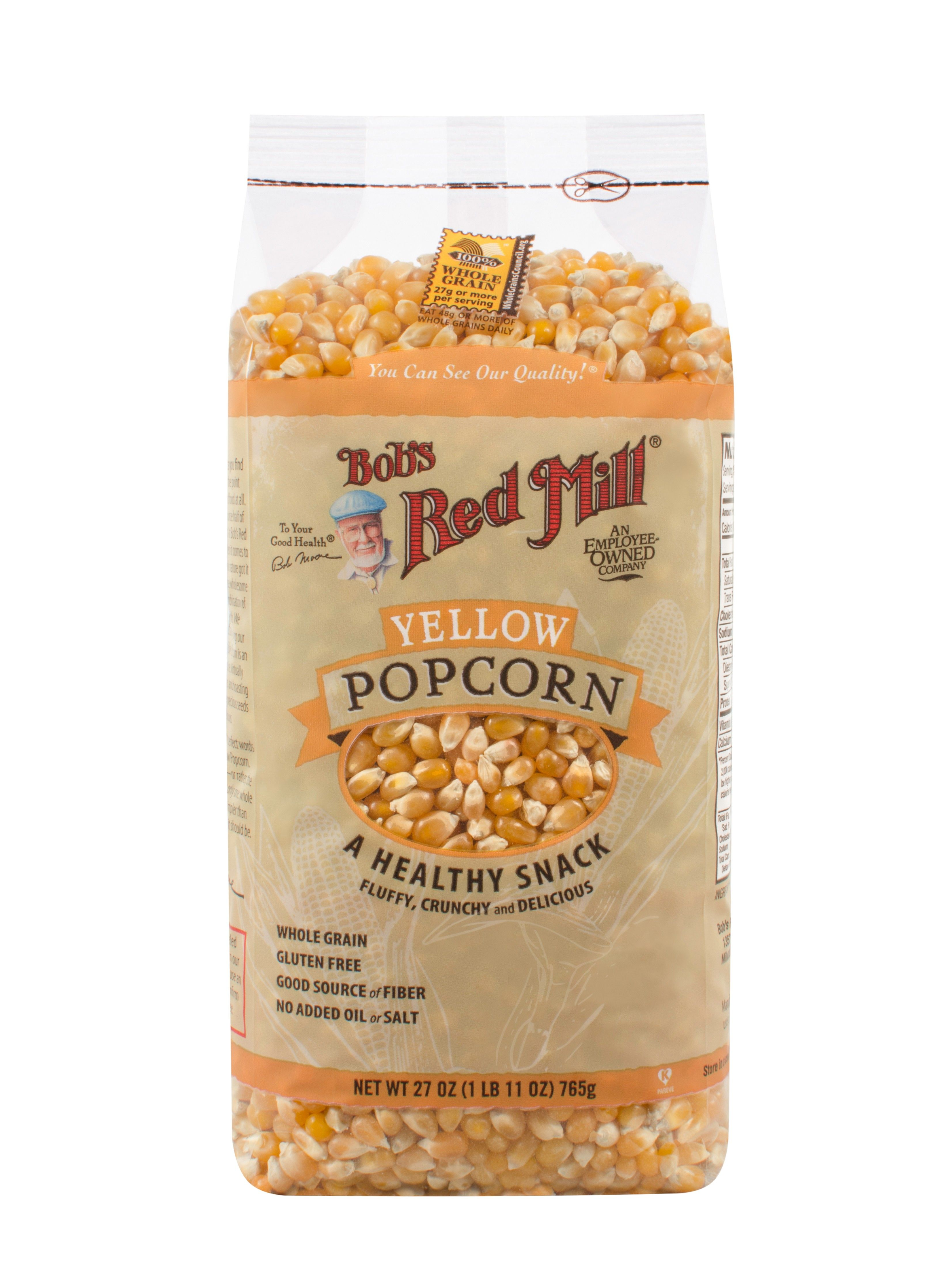 Yellow Popcorn is simply whole grain yellow corn. Pop it on the stovetop, in an air-popper, or in the microwave for an easy, delicious, wholesome high-fiber snack.