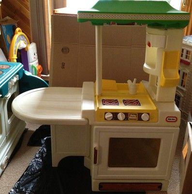 Vintage Little Tikes Green Child Size Party Kitchen Ebay