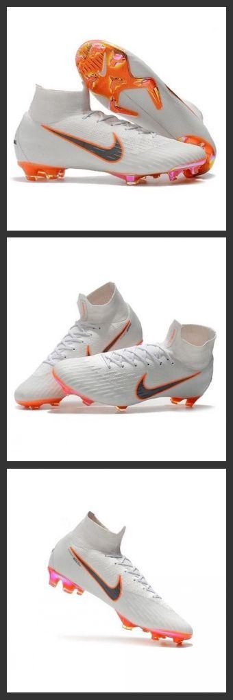 online retailer 2eaf9 ecf7d Nuovo Tacchetti da Calcio Nike Mercurial Superfly VI 360 Elite FG Bianco  Grigio Metallic Arancione Total