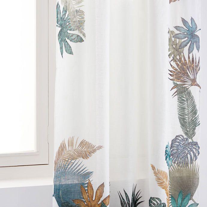 Gardine Mit Palmenblattprint