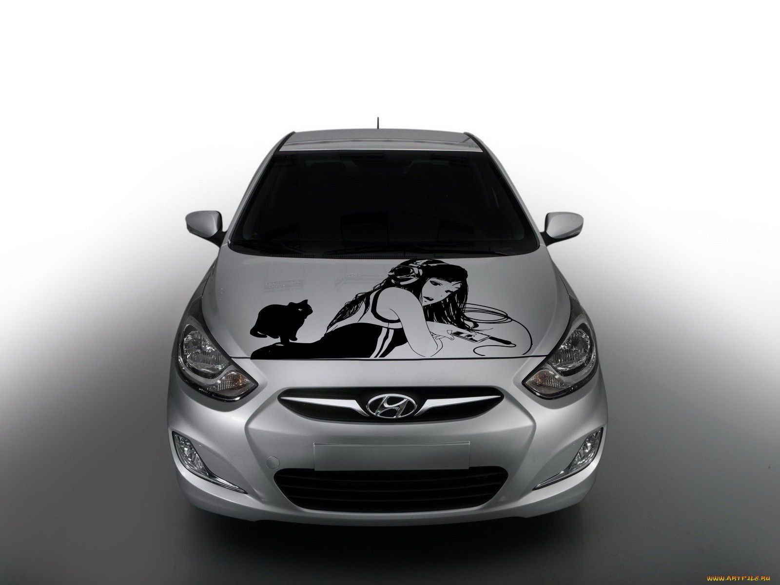 Anime Car Decal Car Decal Car Sticker Girl And Cat Car Vinyl Anime - Car decal sticker girl