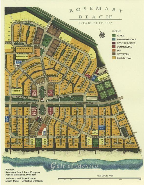 Map Rosemary Beach Fl 30a Sowal