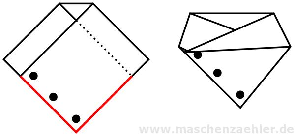 Photo of Schal Kragen Aletheia – schematische Zeichnung