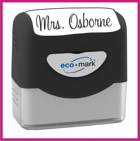 custom name stamp signature rubber stamp self inking great teacher