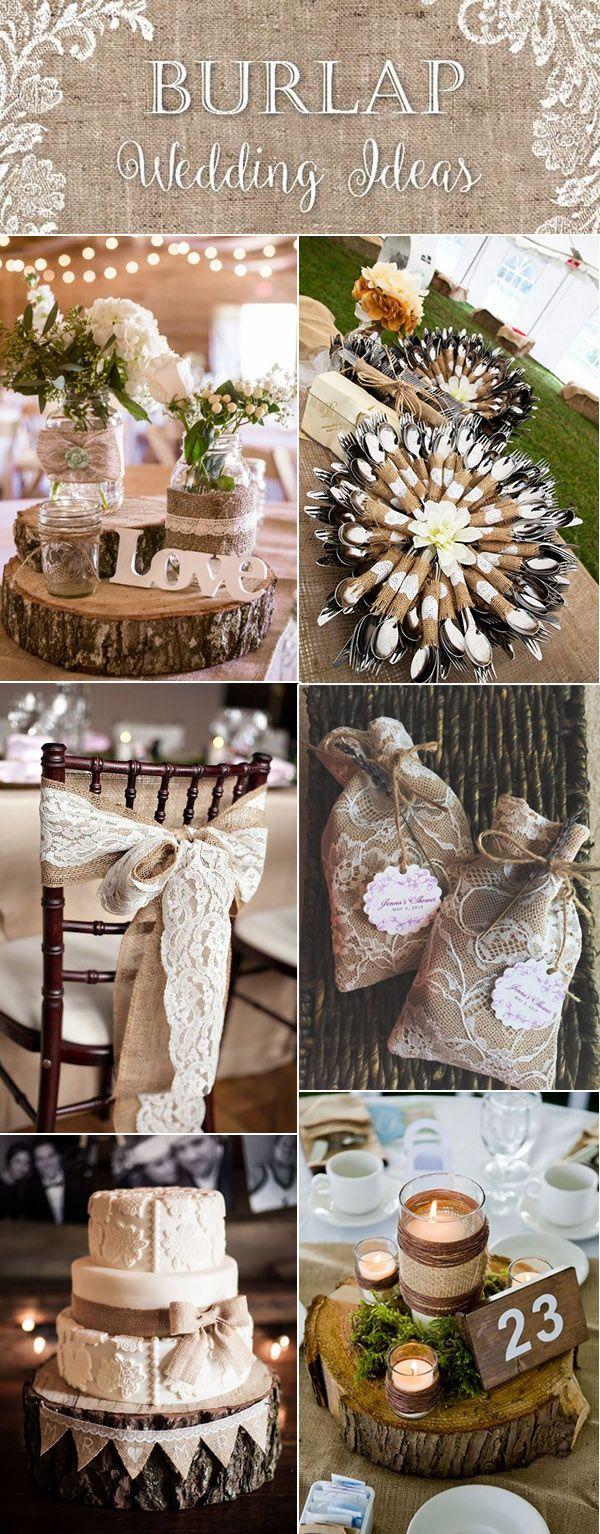 Top 20 Country Rustic Lace And Burlap Wedding Ideas Including Invitations And Favors Elegantweddinginvites Com Blog Wedding Themes Rustic Wedding Decorations Wedding Centerpieces