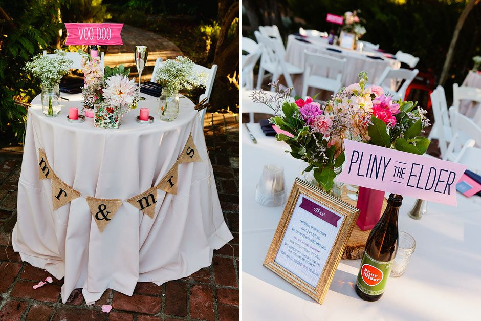 14 Ways To Make Beer Part Of Your Wedding Wedding Tables