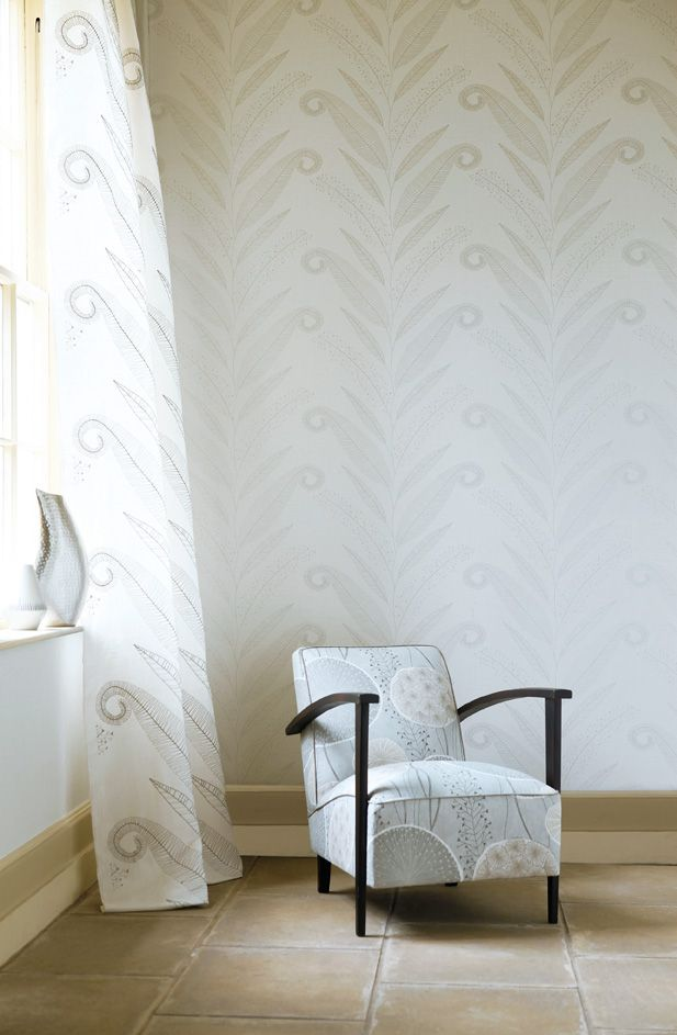Room Harlequin Juniper collection in white and