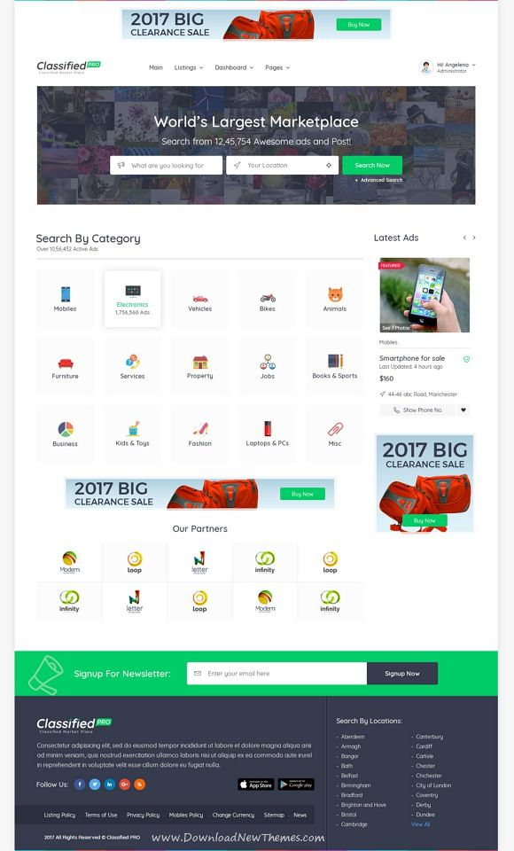 Classified pro classified and listing template pinterest list classified pro is clean and modern design photoshop template for ads classified and business listing website with 2 homepage layouts and 33 layered psd accmission Gallery