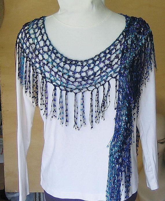 Scarf Crochet Multicolored By Elibet On Etsy Crochet