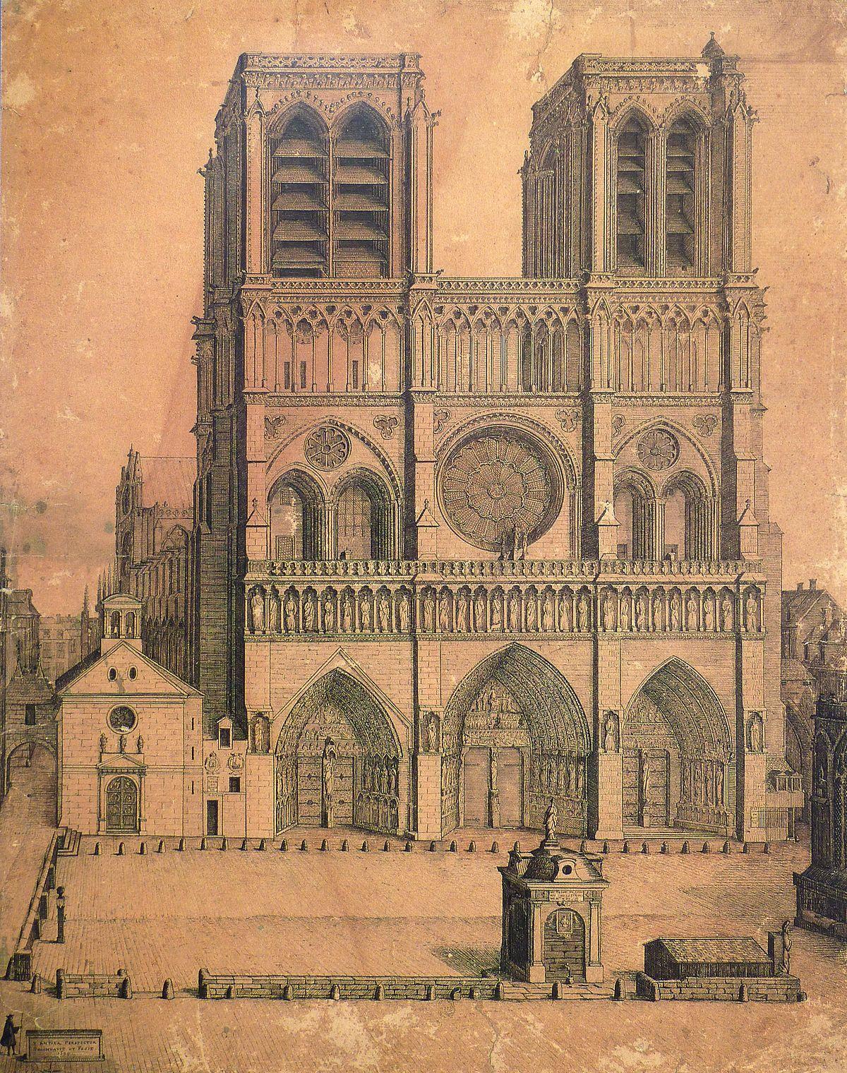 Image result for costruzione della cattedrale di notre dame