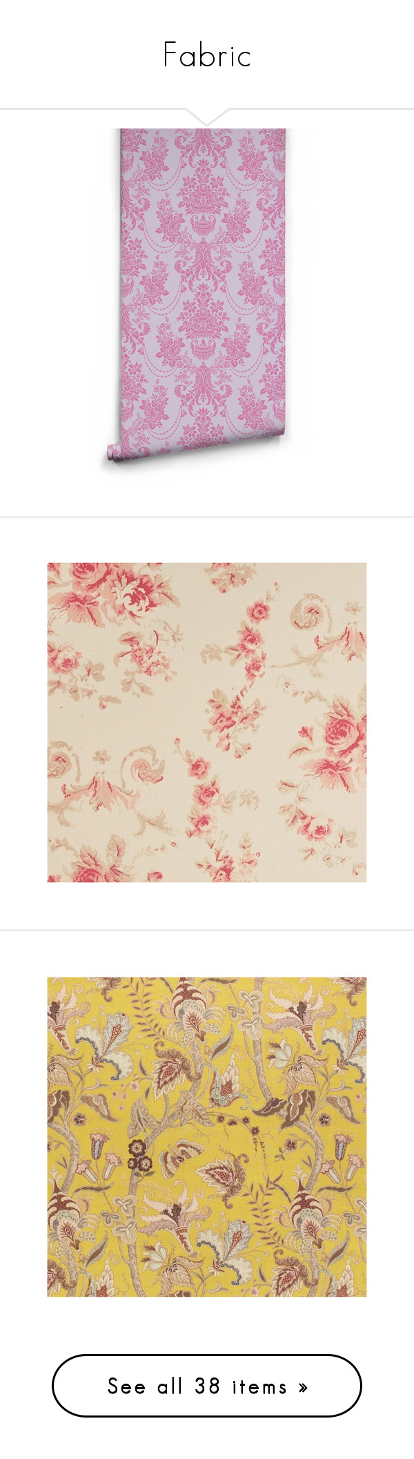 """""""Fabric"""" by chauert ❤ liked on Polyvore featuring home, home decor, wallpaper, wallpaper samples, damask wallpaper, home improvement, fabric, backgrounds, image and art nouveau"""