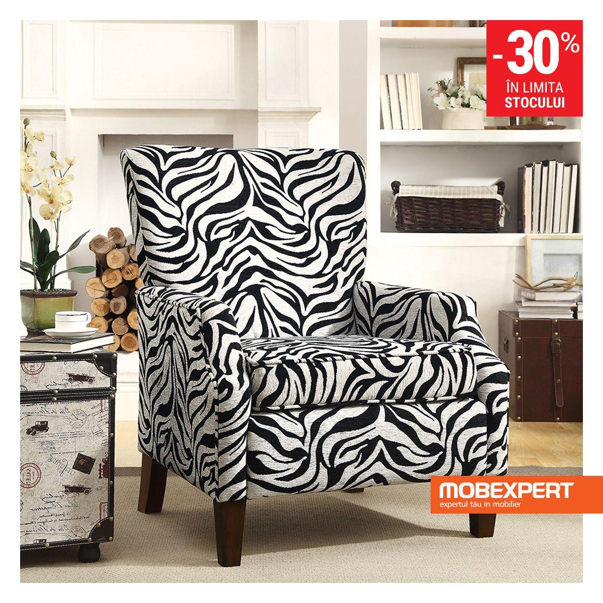 Fotoliul Zebra Pune Accent Pe Confort Si Estetica Interiorul Si  # Mobilier Jardin Zebra