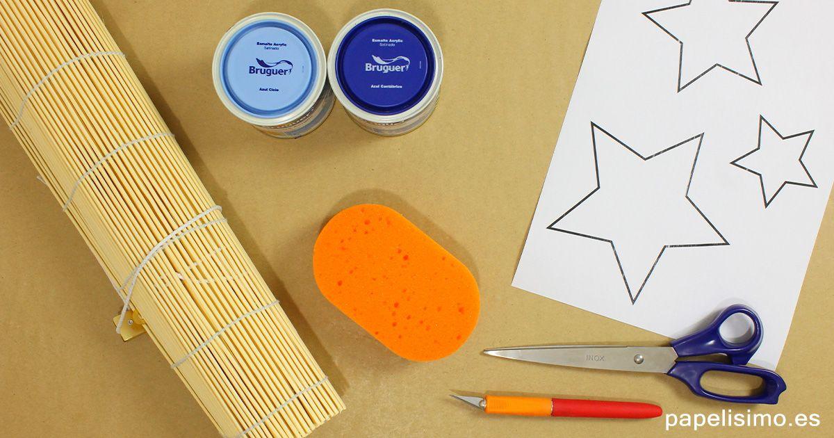 Materiales pintar con plantillas estrellas stencil y - Materiales para pintar ...