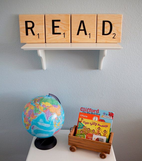 DIY Oversized Scrabble Tile decal for display wall
