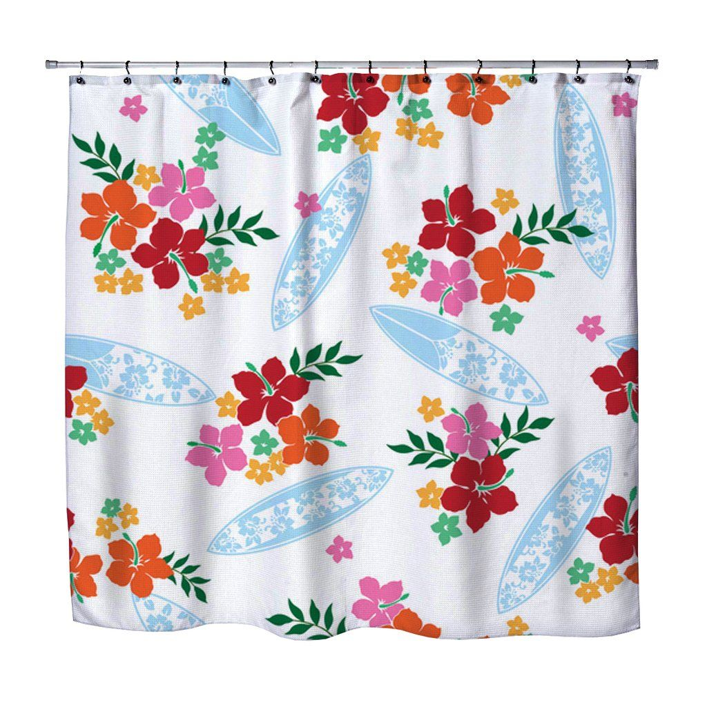 Surfer Girl Shower Curtain From Kids Bedding Company Curtains