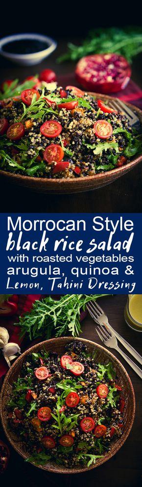 Moroccan style black rice salad