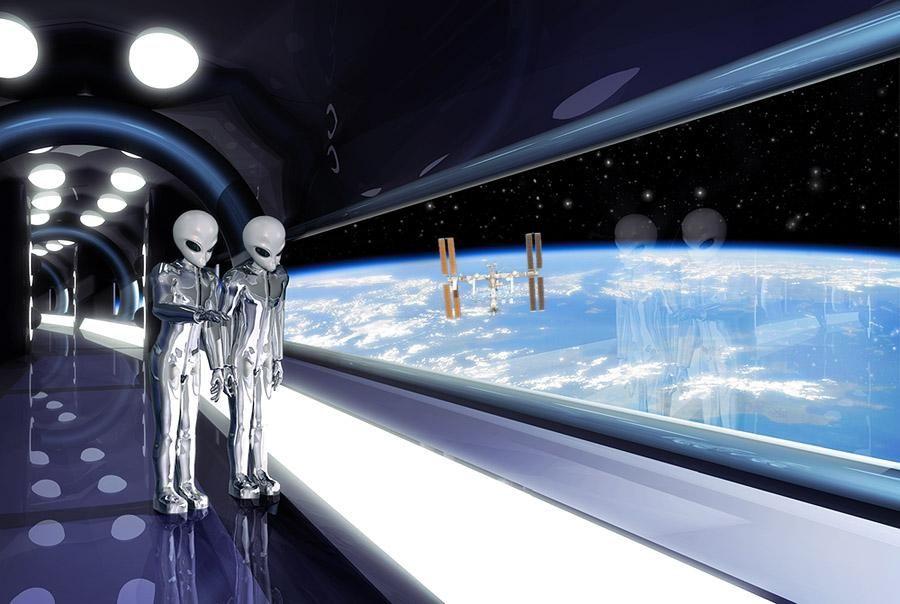ALIENS ARE WATCHING US | Alien art, Fantastic art, Alien