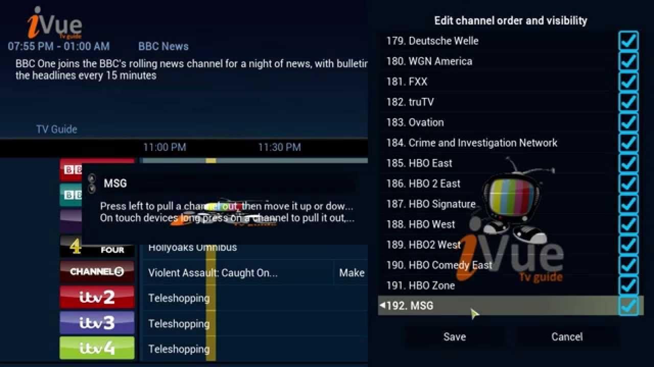 xbmc kodi the best live tv add on live tv guide setup