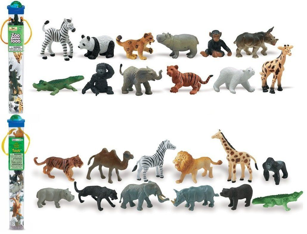 Safari Ltd Zoo Babies + Wild Toob Set Toys