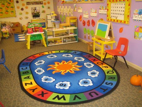 kids playing room in preschool classroom layout design ideas home decorating trends magazine - Designing A Home Preschool Room