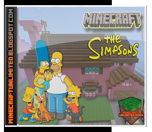 Minecraft Unlimited Mods Descargar Los Simpson Springfield Mapa Para Minecr Mapas De Minecraft Mapas Los Simpson