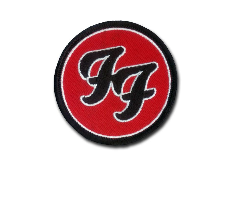 Foo Fighters Classic Design - Embroidered Patch with Velcro Backing - Foo Music
