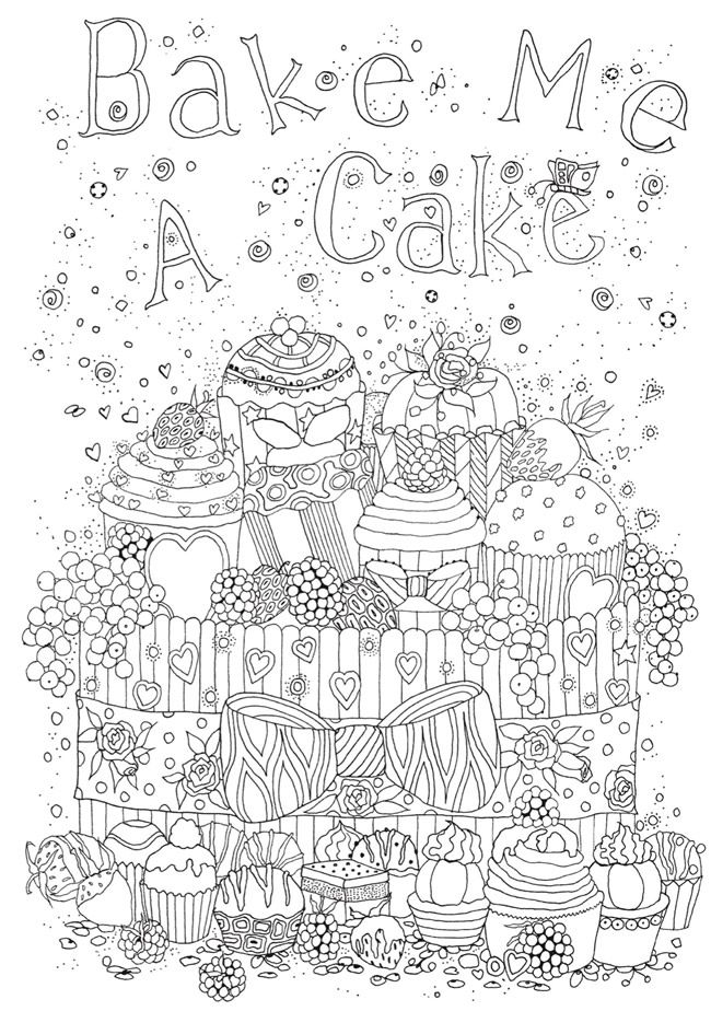 baking coloring pages Creative Haven