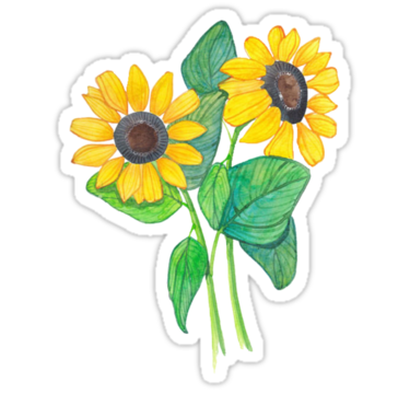 Tumblr stickers cute sunflower tumblr drawing stickers by sadeelishad redbubble