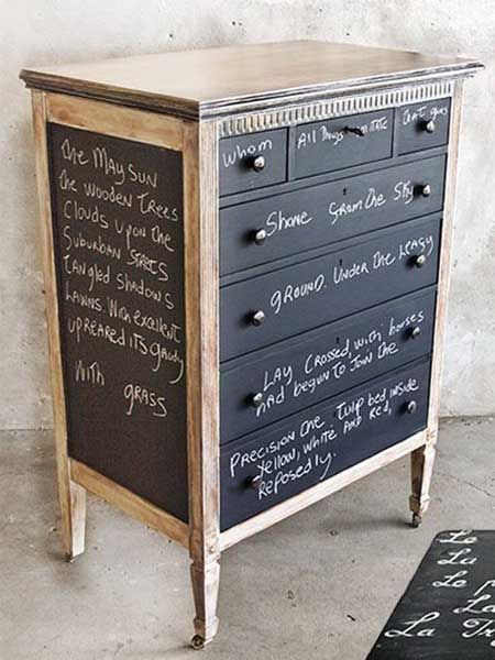 painting wood furniture whiteChalkboard Paint for Dressers Modern Furniture Painting and