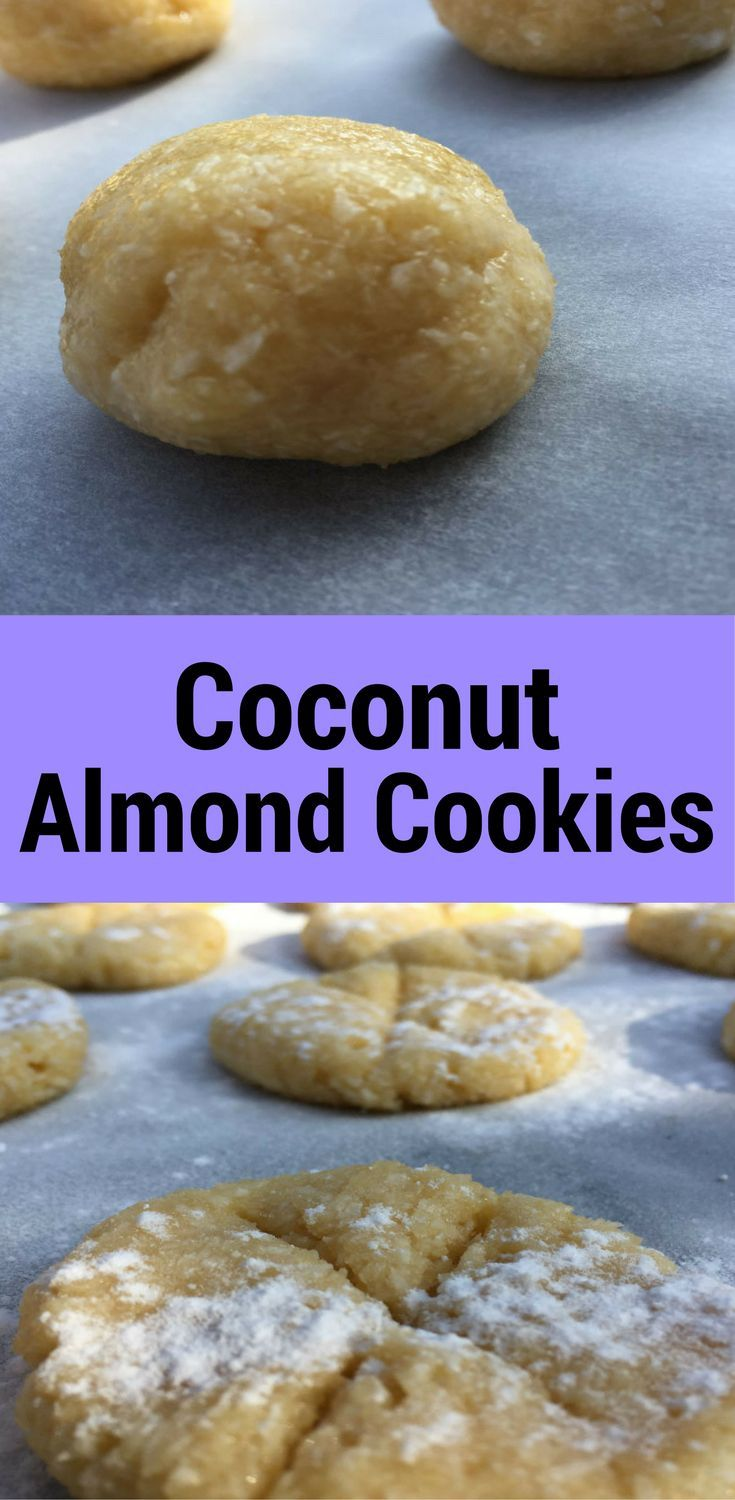 Easy to Prepare Delicious Coconut Almond Cookies!