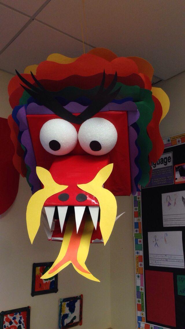chinese new year dragon classroom display