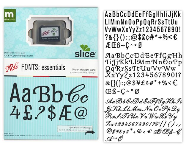 Making Memories Slice Design Card Fonts At Scrapbookcom 3799