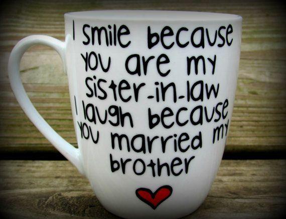 Sister In Law Sister In Law Gift Sister In Law Mug Sister In Law