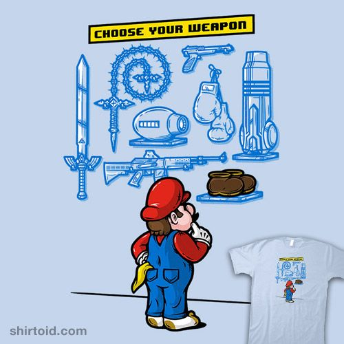 Choose Your Weapon #gaming #mario #mikehandy #mikehandyart #nintendo #supermariobros #videogame
