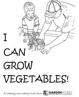 A PDF coloring and activity book that teaches kids to grow