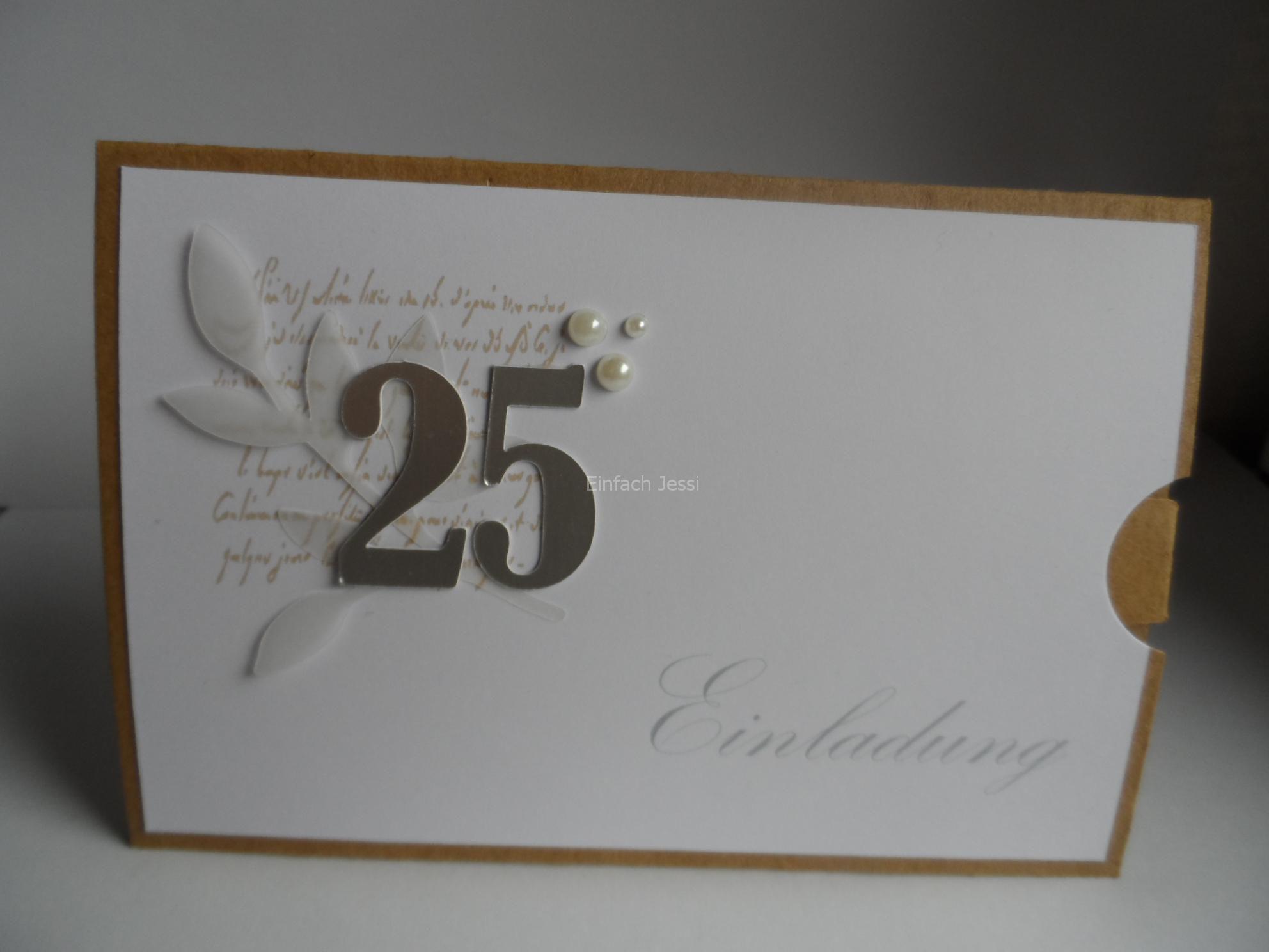 Einladungskarten Silberhochzeit Selbst Gestalten
